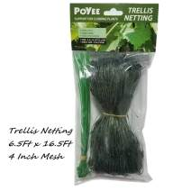POYEE Trellis Netting - 6.5 Ft x 16.5 Ft, Heavy Duty Net Support for Climbing Vining Plants. (2 x 5 Meters)