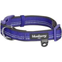 Blueberry Pet 10+ Colors Soft & Safe 3M Reflective Pastel Color Neoprene Padded Dog Collars