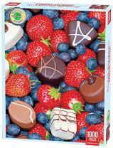 Springbok Puzzles - Chocolate Strawberries - 1000 Piece Jigsaw Puzzle - Large 26.75 Inches by 20.5 Inches Puzzle - Made in USA - Unique Cut Interlocking Pieces