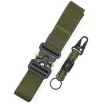 Tactical Belt for Men Military Style Heavy Duty Nylon Belt Utility Riggers Belt with Metal Buckle Adjustable EDC Belt Quick Release Gun Belt for Police & Army Training