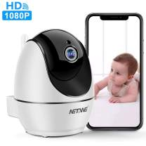 WiFi IP Camera 1080P, Security Camera, Indoor Home Camera for Pet Dog Nanny Baby Monitor, Dome Camera with HD Night Vision, Two-Way Audio and Motion Detection (D520)