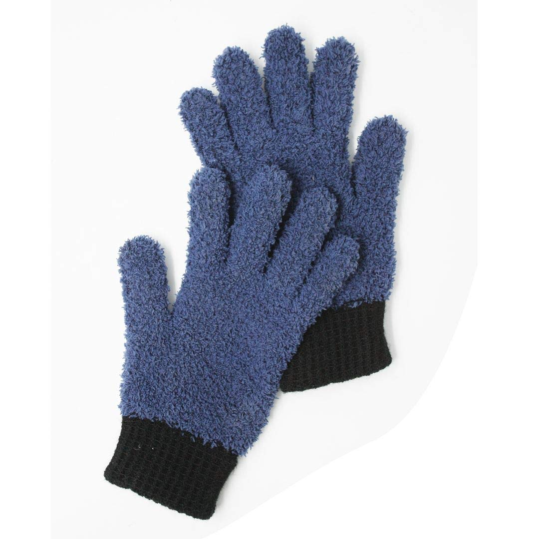 Microfiber dusting Gloves Clean Hard-to-Reach Places Car Detailing Blind Cleaning Highly aborbent Lint Free Navy 1pr S/M