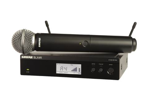 Shure BLX24R/SM58 Rack Mount Wireless Microphone System with SM58 Handheld Vocal Mic