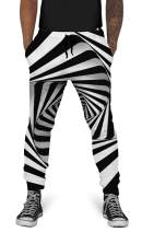 UNIFACO Unisex 3D Digital Print Sports Jogger Pants Casual Graphic Trousers Sweatpants with Drawstring