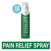 Biofreeze Pain Relief Spray, 4 oz. Aerosol Spray, Case of 12, Colorless (Packaging May Vary)