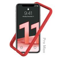 RhinoShield Bumper Case Compatible with [iPhone 11 Pro Max] | CrashGuard NX - Shock Absorbent Slim Design Protective Cover 3.5M / 11ft Drop Protection - Red