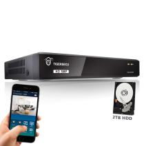 TIGERSECU 5MP Super HD H.265+ 8-Channel Hybrid 5-in-1 DVR NVR Security Video Recorder with 2TB Hard Drive, Supports Analog and ONVIF IP Cameras (Cameras Not Included)