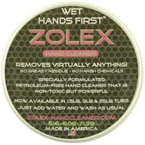 Zolex Water Activated Hand Cleaner for Working Hands| Stain Remover for Heavy Duty Workers | Grease Remover for Mechanics and Heavy Duty Workers - Non-Toxic Petroleum Free | Pack of 24