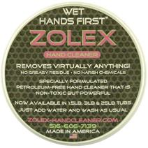 Zolex Water Activated Hand Cleaner for Working Hands| Stain Remover for Heavy Duty Workers | Grease Remover for Mechanics and Heavy Duty Workers - Non-Toxic Petroleum Free | Single Pack