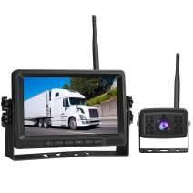 "Piroir Wireless Backup Camera System 7"" 1080P HD Digital Monitor Waterproof Reverse Camera Kit for Trucks RV Trailer Pickup Bus Camping Car"