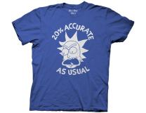 Ripple Junction Rick and Morty 20% Accurate as Usual Adult T-Shirt