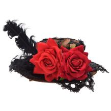 BLESSUME Victorian Punk Mini Top Hat Hair Clip Party Hat Dancing Cocktail Head Clip