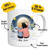 Custom Best Friend Coffee Mug - Personalized for Women Perfect Photo For Friend Besties Friendship BFF Bridesmaid Graduation Birthday Moving Away