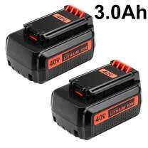 3000mAh Battery for Black and Decker 40v Lithium, Replacement Black & Decker 40 Volt MAX LBX2040 LBXR36 LBXR2036 LST540 LCS1240 LBX1540 LST136W Battery (2 Packs)