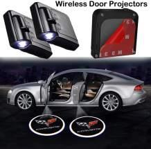 Bearfire Car Door Lights Logo Fit Corvette Car Door Projector Light Led Welcome Lights Car logo Suitable For All Models (2Pcs)