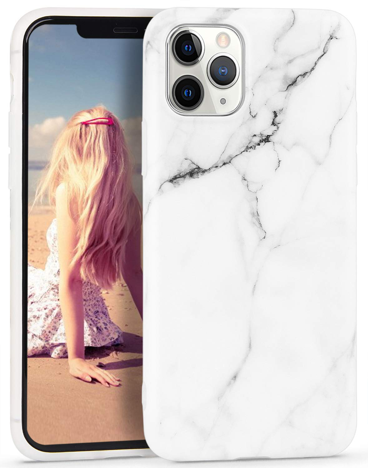 Imikoko iPhone 11 Pro Case Marble, Slim Soft FlexibleTPU Matte Marble Pattern Protective Shockproof Case Cover for iPhone 11 Pro 5.8 inch