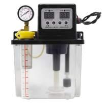 NEWTRY Automatic Digital Numerical Control Lubricant Pump Automatic Lubricating Oil Pump Cnc Electromagnetic Lubrication Pump Lubricator (110V, 1.8L)
