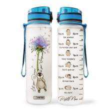 64HYDRO 32oz 1Liter Motivational Water Bottle with Time Marker, Dandelion Penguin Lover Let Your Dream be Your Wings HAH0106002 Water Bottle