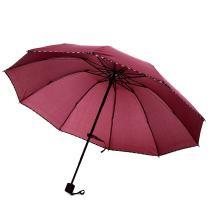 Xiuying Feng Travel Compact Umbrella Windproof Sun & Rain Umbrella Ultra Light Parasol Fits Men & Women Gift Choice (Maroon)