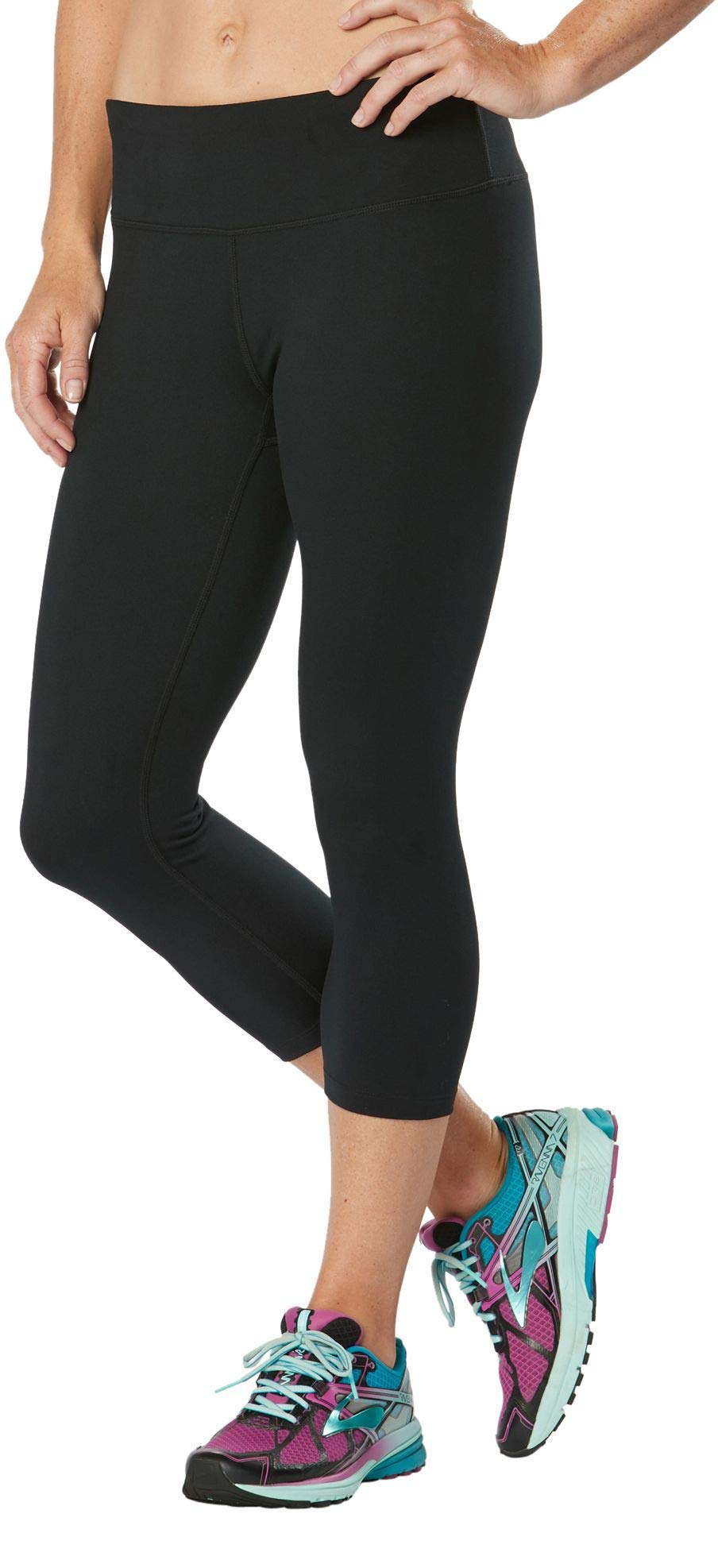 R-Gear Women's 19-inch Workout Capri Tights with Inner Pocket for Gym, Yoga, Fitness, Training, Lounge   Leg Up II