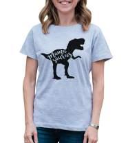 7 ate 9 Apparel Women's Mamasaurus Dinosaur T-Shirt
