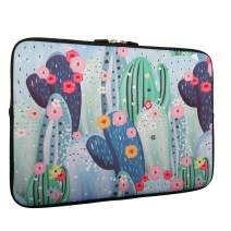 Cactus Flower Laptop Sleeve Bag 13-13.3 Inch,Water Repellent Neoprene Light Weight Computer Skin Bag, Notebook Carrying Case Cover Bags