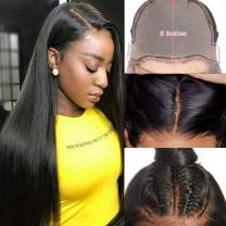 UNice Hair Fake Scalp 13x6 Straight Hair Lace Front Human Hair Wigs Invisible Knot, Unprocessed Brazilian Virgin Hair Lace Frontal Wig Pre Plucked with Baby Hair 150% Density (12 inch)