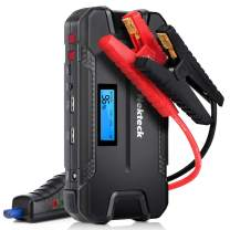 Nekteck Car Jump Starter Portable External Battery Charger 500A Peak with 12000mAh - Emergency Jump Pack Auto Jumper for Sedan Van SUV Boat Smartphone USB Device and More