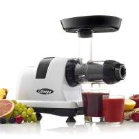 Omega J8006HDS Quiet Dual-Stage Slow Speed Masticating Juicer Makes Fruit and Vegetable 80 Revolutions per Minute High Juice Output, 200-Watt, Silver