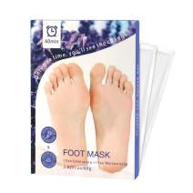 Foot Peel Mask 2 Pairs, Exfoliant and Moisturizing Peeling Feet Mask Foot Spa for For Baby Smooth Soft Feet, Exfoliating Booties for Peeling Off Calluses & Dead Skin, For Men & Women