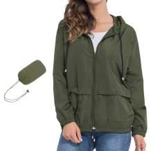 ZEALOTPOWER Waterproof Rain Jacket for Women Lightweight Raincoat with Hood Active Outdoor Hiking Trench Windbreaker