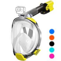aidong Full Face Snorkel Mask,180 Panoramic Anti Fog Anti Leak Foldable Snorkel Mask,Advanced Breathing System Allows You to Breathe More Fresh Air While Snorkeling