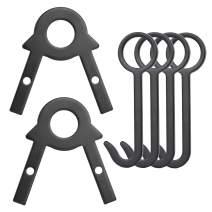 AZOART Target Stand Kit - Shooting Target Hanging Hook AR500 Steel Target Holder DIY Pipe Target Assembly Stands Metal Gong Target Hanger