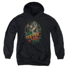 Jurassic Park Classic Logo T Rex Kids Youth Pullover Hoodie & Stickers