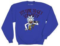 Ripple Junction Rick and Morty Adult Unisex It's Time to Get Schwifty Fleece Crew Sweatshirt