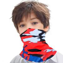 Kids Face Mask Bandanas with Polyester Boys Neck Gaiter Balaclava Girls Headwear for Outdoor Sport Wind Dust Sun Protection