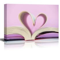 """wall26 - Canvas Prints Wall Art - Heart and Book 