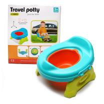 WISHTIME Baby Toilet Training Travel Potty 2 in 1 Comfortable Seat Portable Foldable Toilet Baby Training Potty Chair Assistant Multifunction Eco Friendly Stool for Kids
