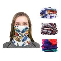 deladola Fashion Magic Neck Gaiter Seamless Bandanas Dust Wind UV Sun Protection Mask Balaclava Headband Sport Outdoor Party for Women and Men(3 Pcs)