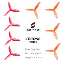 DALPROP FalcoRC Cyclone Tri-Blade High-Speed Propeller 3 Leaf Props T5045C 4Pairs/8pieces(4CW/4CCW) for Drone Quadcopter FPV RC Racing(Red/Orange)