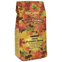Door County Coffee, Fall Seasonal Flavored Coffee, Pumpkin Spice Decaf, Cinnamon & Nutmeg Flavored Coffee, Limited Time, Medium Roast, Whole Bean Coffee, 8 oz Bag
