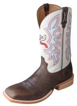 HOOey Twisted X Men's White Cowboy Boot Square Toe - Mhy0011