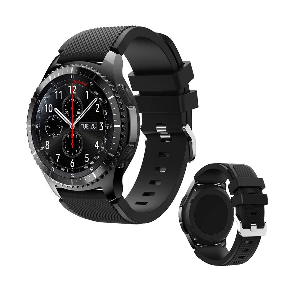 DOB SECHS 20mm silicon Band Compatible with Samsung Galaxy Watch Active,Active 2 , Galaxy Watch 3 41mm,,Galaxy Watch 42mm,Vivoactive 3,Gear S2 Classic