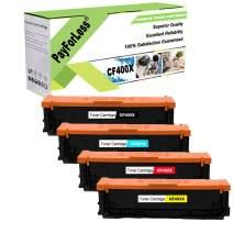 PayForLess Compatible 201X CF400X CF401X CF402X CF403X 201A CF400A Toner Cartridge 4PK for HP Color Laserjet Pro M252dw M252n MFP M277dw M277n M277c6 M274n MF634Cdw MF632Cdw LBP612Cdw