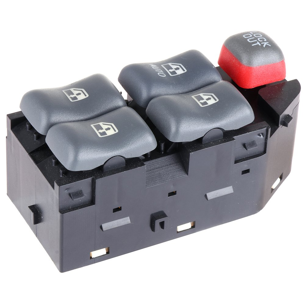 Power Window Switch Master Control Switch Fits for Pontiac Bonneville 1997-1999Pontiac Sunfire 1995-2005 Pontiac Grand Prix1997-2003 Chevy Cavalier 2000-2005 4-Door 10290244 19208647 22652691