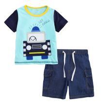 Jobakids Little Boys' Short Set Summer Outfit Play Clothing Sets Short Sleeve Cotton 2-Piece