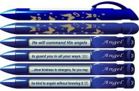 "Greeting Pen ""Angel"" Scripture Pens, Scripture Verses with Rotating Messages, 6 Pen Set (36014)"