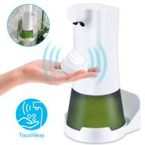 CAVN Automatic Soap Dispenser, Touch-Free Infrared Motion Sensor Foam Hand Dish Soap Dispenser, Electric Touchless Foaming Detergent Dispenser Wall Mount for Kitchen Bathroom Toilet Office Hotel