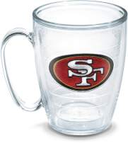 Tervis Individual Emblem NFL San Francisco 49Ers Mug, 16 oz, Clear