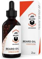 Citrus Beard Oil Leave-in Conditioner - Sweet Orange Scent - Large 2oz Size - Enhanced with Organic Tea Tree Oil, Jojoba Oil, and Argan Oil - Mustache and Beard Softener and Growth